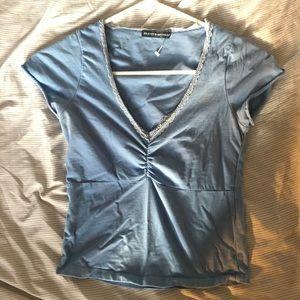 Brandy Melville Blue V-neck